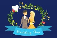 Wedding Day Banner Template With Happy Just Married Couple with Bride To Be Banner Template