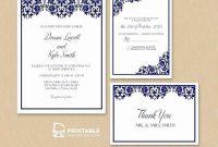 Wedding Invitations Photoshop Template Luxury Wedding regarding Acceptance Card Template