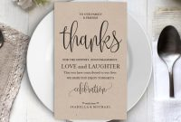 Wedding Thank You Printable Template, Thank You Card with regard to Template For Wedding Thank You Cards
