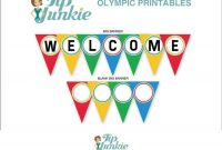 Welcome Triangle Pennant Banner {Free Printable} | Welcome with regard to Welcome Banner Template