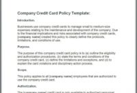 What Is A Company Credit Card Policy? [With Free Template] with regard to Company Credit Card Policy Template