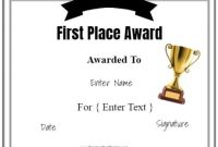 Winner Award Certificate | 100% Free And Editable in First Place Certificate Template