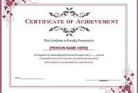 Word Achievement Award Certificate Template | Free with regard to Microsoft Word Award Certificate Template