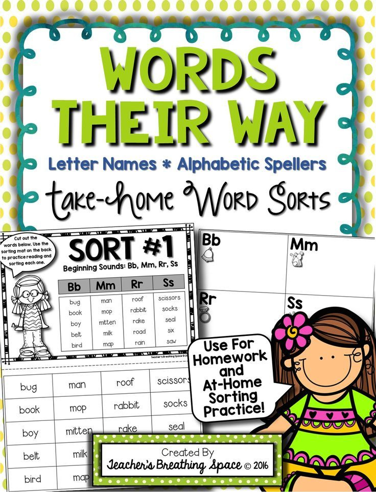 Words Their Way - Letter Name Alphabetic Spellers - Take in Words Their Way Blank Sort Template