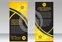 Yellow And Black Banner Stand Template, Stand Design,banner inside Banner Stand Design Templates